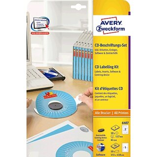 AVERY Zweckform CD-Etiketten  Software+Zub.