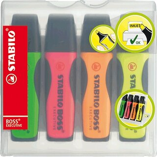 STABILO Boss Executive Textmarker 4er Set sortiert